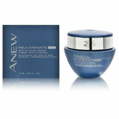 Avon Anew Rejuvenate Revitalizing Cream Night 15ml/0.5oz by Avon. $6.00. Up to a 2-WEEK SUPPLY. Night time face cream. Reduce fine lines. Try-It Size .5 fl. oz.. Evens skin tone. Lightweight gel-cream works while you sleep, so you awaken to skin that looks fresher and more vibrant. Reduces fine lines & visible pore size, smooths texture & evens skin tone.