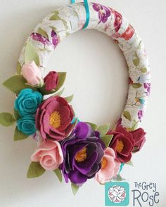 Love love love how this spring wreath turned out! Now listed :)