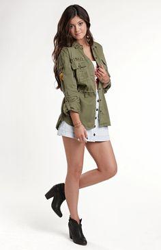Kendall & Kylie Utility Shirt #KandK4PacSun #PacSun