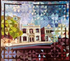 Fremantle by The Guilty Quilter.  Machine Pieced, hand appliqued and machine quilted
