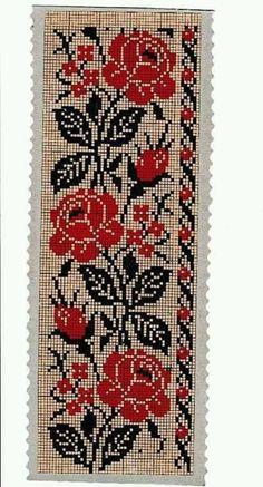 Easy Cross Stitch Patterns, Cross Stitch Borders, Simple Cross Stitch, Cross Stitch Rose, Crochet Borders, Cross Stitch Flowers, Cross Stitch Designs, Cross Stitch Embroidery, Embroidery Patterns