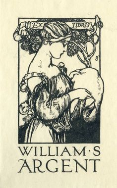 Ex libris William S. Argent by Henry Ospovat (1877-1909).