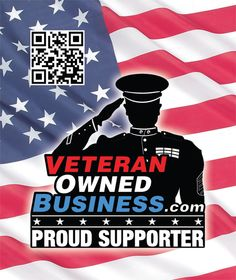 "Veteran Owned Business ""Proud Supporter"" Sticker and Window Cling."