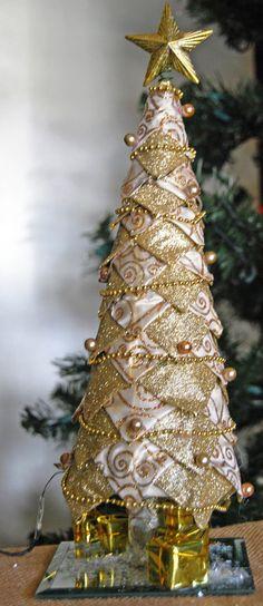 Décorations de Noël Lauscha Olive Golden dreams 4 pièce