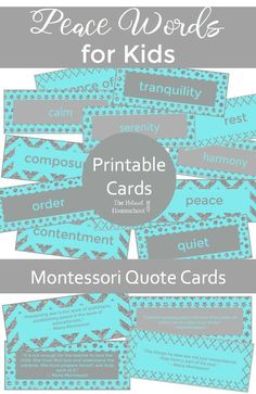 In this post, we will show you some awesome printable cards with peace words for kids. Be sure and grab them!