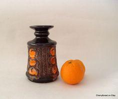 Vintage ceramic vase by Strehla   with vibrant by Cherryforest