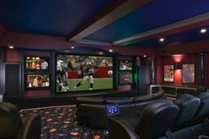 Multiple televisions for home theater.