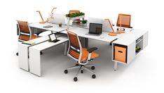 Bivi Modern Modular Office Desk System | turnstone