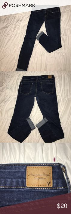 AEO super stretch skinny jeans Perfect condition, true to size American Eagle Outfitters Jeans Skinny