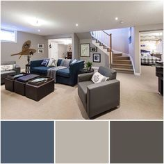 The Indigo Batik Accents Add A Subtle Richness That Contrasts Perfectly With Variation Of Greys Throughout Room