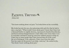 Painful Truths ~ Nikita Gill