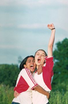 | BEND IT LIKE BECKHAM | Parminder Nagra and Keira Knightley celebrate a victory #tbt