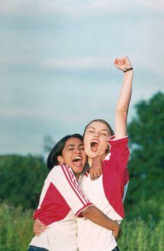 | BEND IT LIKE BECKHAM | Parminder Nagra and Keira Knightley celebrate a victory #tbt