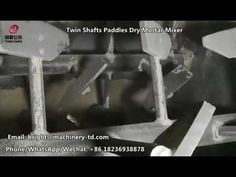 automatic twin shafts paddle mixed from internal structure