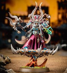 Ahriman, Arch-Sorcerer of the Thousand Sons Warhammer 40k Figures, Warhammer Models, Warhammer 40k Miniatures, Warhammer Fantasy, Warhammer 40000, Chaos 40k, Thousand Sons, Minis, Dark Eldar