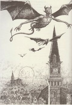Night Gaunts HP Lovecraft Les Edwards 1939