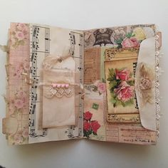 shabby junk journal page Junk Journal, Journal Paper, Art Journal Pages, Journal Ideas, Journal Sample, Handmade Journals, Handmade Books, Frame Instagram, Fabric Journals