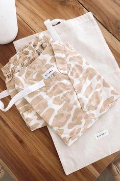 Cute Pajama Sets, Cute Pajamas, Kids Pajamas, Pajamas Women, Hand Printed Fabric, Printing On Fabric, Bridesmaid Pyjamas, Clothing Packaging, Estilo Fashion