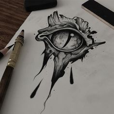 Graphic research for next tattoo projects ! ⚰BOOKING⚰ strangedustbookin… … Graphic research for next tattoo projects ! Dragon Eye Drawing, Realistic Eye Drawing, Dragon Art, Eyeball Drawing, Kunst Tattoos, Body Art Tattoos, Drawing Tattoos, Dark Art Drawings, Cool Drawings