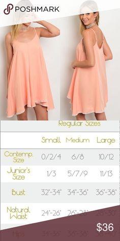Light Coral Spaghetti Strap Modal Mini Dress New with tags. Perfect for summer lightweight mini shift dress.                                                              🌸51% cotton, 49% modal.                                                                ❌SORRY, NO TRADES. Boutique Dresses Mini