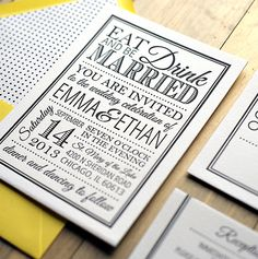 Emma Suite  Printable Wedding Invitation and RSVP by LadybugPixels, $40.00