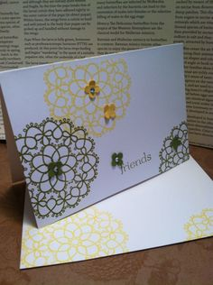 """Fancy Friends""...easy peasy way to make quick and cute cards!"