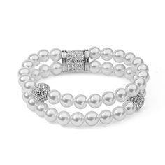 DJM AAA Quality Fashion Jewelry Magnet Buckle Diamante Pearl Bracelets For Women(DJ0321)