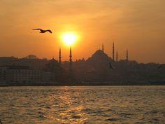 Tramonto sul Bosforo, Istanbul. #sunset