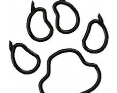 Panther paw print pattern. Use the printable outline for