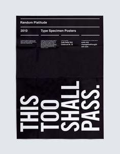 Type Specimen Posters - Trade Gothic Bold Condensed
