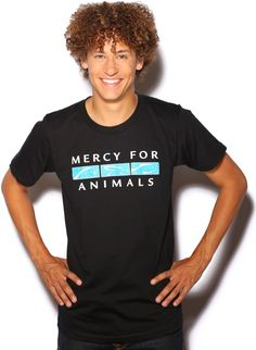 Help farmed animals in style with MFA's new t-shirts and merchandise!