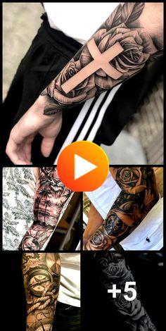 Beste Ideen Tattoo Arm Ärmel Männer Rosen – tattoos for women meaningful Colorful Sleeve Tattoos, Unique Half Sleeve Tattoos, Simple Arm Tattoos, Rose Tattoos For Men, Girls With Sleeve Tattoos, Sleeve Tattoos For Women, Arm Tattoos For Guys, Word Tattoos On Arm, Inner Arm Tattoos