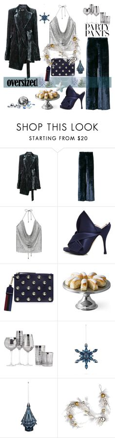 """All Oversized Everything"" by nicolevalents ❤ liked on Polyvore featuring Ann Demeulemeester, Forte Forte, N°21, Carven, VERONA, Baccarat and National Tree Company"