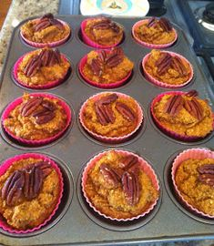 Wheat Belly Recipes: Pumpkin Spice Muffins Low Carb Desserts, Gluten Free Desserts, Healthy Desserts, Gluten Free Recipes, Low Carb Recipes, Real Food Recipes, Yummy Food, Diabetic Snacks, Flour Recipes