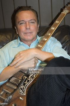 Photo of David CASSIDY; at a press conference