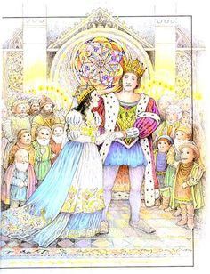 Illustrated by Kay Chorao. WEDDING OF SNOW WHITE AND THE PRINCE