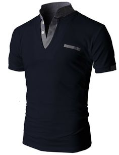 Doublju Men's Unique Hybrid Fashion Polo Shirts with Short Sleeve Mens Polo T Shirts, Tee Shirts, Cool Outfits, Casual Outfits, Men Casual, One Direction Shirts, Matching Couple Shirts, T Shirt Diy, Casual Shirts
