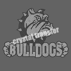 Bulldogs Crystal Transfers Iron on New Design