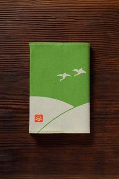 cotton book cover by ponpindo, japan