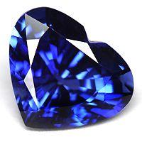 Royal Blue sapphire heart cut 3.49CT