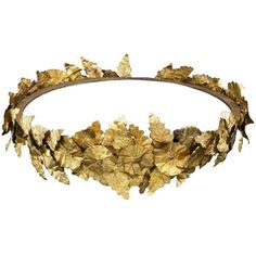 Gold laurel wreath - edited by jessicaleila ❤ liked on Polyvore featuring accessories, hair accessories, jewelry, tiara, crown, gold crown, gold hair accessories, gold tiara crown, crown tiara and tiara crown