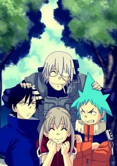Not that don't hate this but Maka can not be with Kid it just doesn't feel right to me. Soul Eater X Naruto Sasuke Sakura, Naruto And Sasuke, Hinata, Manga Anime, Tv Anime, Fan Art Anime, Anime Soul, Anime Life, Shinigami