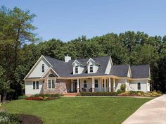 Country House Plan with 2078 Square Feet and 3 Bedrooms from Dream Home Source | House Plan Code DHSW41653