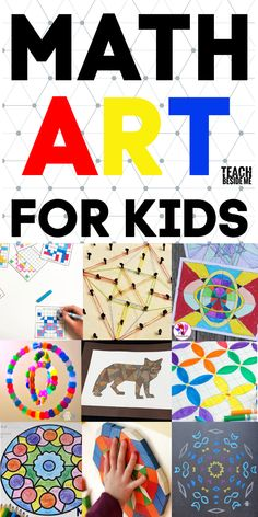 Math art projects for kids -integrating math and artYou can find Math art and more on our website.Math art projects for kids -integrating math and art Math Activities For Kids, Math For Kids, Fun Math, Science For Kids, Math Games, Art Projects For Kindergarteners, Science Projects For Kids, Steam Activities, Maths 3e