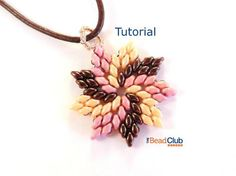 Superduo Bead Patterns - Beaded Necklace Patterns - Pendant - Beading Tutorials and Patterns - Beadweaving Tutorial - Pinwheel Pendant by TheBeadClubLounge on Etsy Beaded Necklace Patterns, Jewelry Patterns, Beaded Earrings, Beading Patterns, Beaded Bracelets, Stretch Bracelets, Bracelet Patterns, Bangle Bracelet, Bead Jewellery