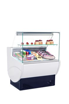 """GAYA  - Refrigeration system utilizes natural air circulation - Electronically controlled with digital temperature display - Flat glass / curved glass / right glass - AISI 304 stainless steel interior rear shelf and decks - Refrigerated understorage - Insulation by injected polyurethane """"In Situ"""" – 100% CFC free - Internal illumination for better display - Temperature range : +2ºC / +6ºC - Refrigerant R134a - The models were designed for operation under conditions of 25°C and 60% HR"""