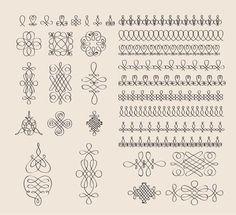 древнерусский каллиграфический орнамент - Google Search