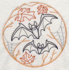 Cute bat embroidery