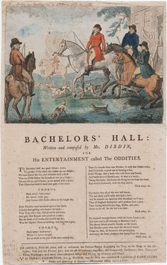 1791 Bachelors' Hall by Isaac Cruikshank. Lewis Walpole Library