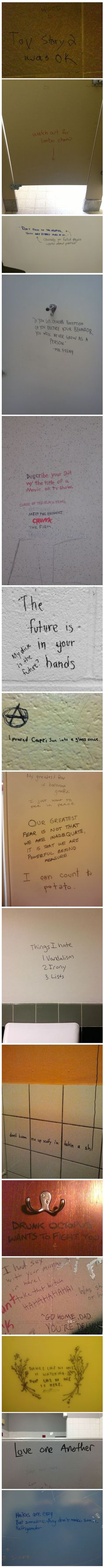 Bathroom Stall Wisdom no, this is the bathroom stall | bathroom stall, humor and hilarious